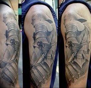 фото тату рыцарь от 27.09.2017 №052 - tattoo knight - tatufoto.com