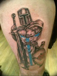 фото тату рыцарь от 27.09.2017 №054 - tattoo knight - tatufoto.com
