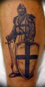 фото тату рыцарь от 27.09.2017 №055 - tattoo knight - tatufoto.com