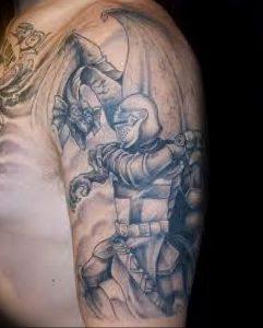 фото тату рыцарь от 27.09.2017 №057 - tattoo knight - tatufoto.com