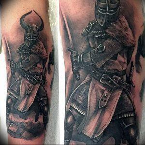 фото тату рыцарь от 27.09.2017 №059 - tattoo knight - tatufoto.com