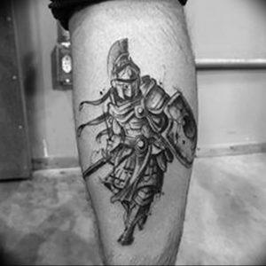 фото тату рыцарь от 27.09.2017 №060 - tattoo knight - tatufoto.com