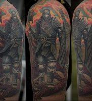 фото тату рыцарь от 27.09.2017 №065 — tattoo knight — tatufoto.com