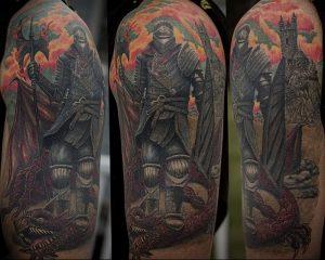 фото тату рыцарь от 27.09.2017 №065 - tattoo knight - tatufoto.com
