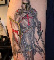 фото тату рыцарь от 27.09.2017 №066 — tattoo knight — tatufoto.com