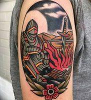 фото тату рыцарь от 27.09.2017 №069 — tattoo knight — tatufoto.com