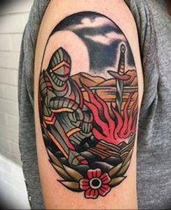 фото тату рыцарь от 27.09.2017 №069 - tattoo knight - tatufoto.com