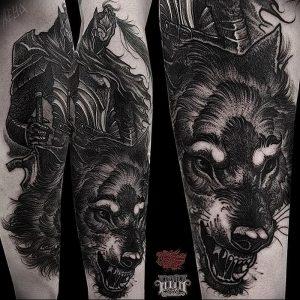 фото тату рыцарь от 27.09.2017 №070 - tattoo knight - tatufoto.com