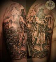 фото тату рыцарь от 27.09.2017 №071 — tattoo knight — tatufoto.com