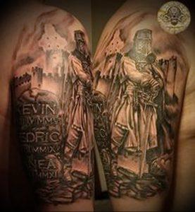 фото тату рыцарь от 27.09.2017 №071 - tattoo knight - tatufoto.com