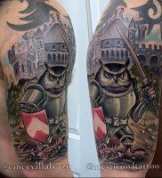 фото тату рыцарь от 27.09.2017 №072 — tattoo knight — tatufoto.com
