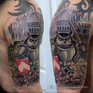 фото тату рыцарь от 27.09.2017 №072 - tattoo knight - tatufoto.com