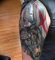 фото тату рыцарь от 27.09.2017 №073 — tattoo knight — tatufoto.com