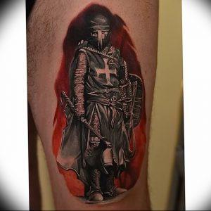 фото тату рыцарь от 27.09.2017 №075 - tattoo knight - tatufoto.com