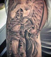 фото тату рыцарь от 27.09.2017 №076 — tattoo knight — tatufoto.com