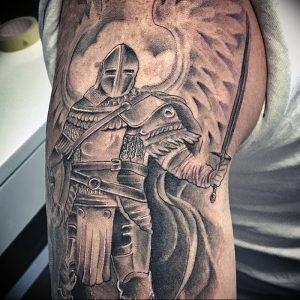 фото тату рыцарь от 27.09.2017 №076 - tattoo knight - tatufoto.com