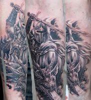 фото тату рыцарь от 27.09.2017 №077 — tattoo knight — tatufoto.com