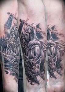 фото тату рыцарь от 27.09.2017 №077 - tattoo knight - tatufoto.com