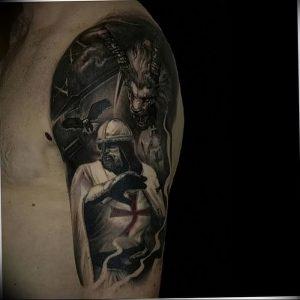 фото тату рыцарь от 27.09.2017 №078 - tattoo knight - tatufoto.com