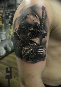 фото тату рыцарь от 27.09.2017 №087 - tattoo knight - tatufoto.com