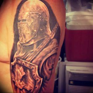 фото тату рыцарь от 27.09.2017 №088 - tattoo knight - tatufoto.com