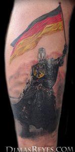 фото тату рыцарь от 27.09.2017 №091 - tattoo knight - tatufoto.com