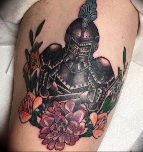 фото тату рыцарь от 27.09.2017 №097 - tattoo knight - tatufoto.com