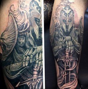 фото тату рыцарь от 27.09.2017 №100 - tattoo knight - tatufoto.com