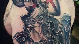фото тату рыцарь от 27.09.2017 №102 - tattoo knight - tatufoto.com