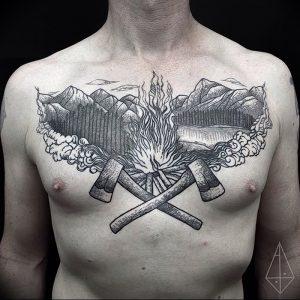фото тату топор от 26.09.2017 №008 - tattoo ax - tattoo-photo.ru