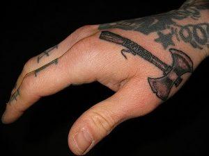фото тату топор от 26.09.2017 №009 - tattoo ax - tattoo-photo.ru