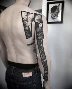 фото тату топор от 26.09.2017 №025 - tattoo ax - tattoo-photo.ru