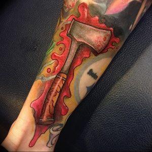 фото тату топор от 26.09.2017 №029 - tattoo ax - tattoo-photo.ru