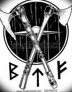 фото тату топор от 26.09.2017 №056 - tattoo ax - tattoo-photo.ru