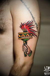 фото тату факел от 08.09.2017 №099 - tattoo torch - tattoo-photo.ru