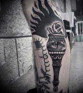 фото тату факел от 08.09.2017 №106 - tattoo torch - tattoo-photo.ru