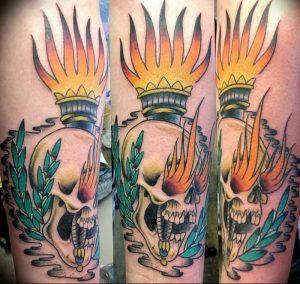 фото тату факел от 08.09.2017 №116 - tattoo torch - tattoo-photo.ru