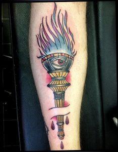 фото тату факел от 08.09.2017 №128 - tattoo torch - tattoo-photo.ru