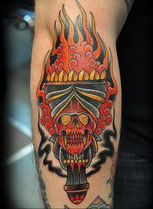 фото тату факел от 08.09.2017 №131 - tattoo torch - tattoo-photo.ru