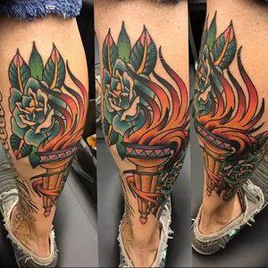 фото тату факел от 08.09.2017 №134 - tattoo torch - tattoo-photo.ru