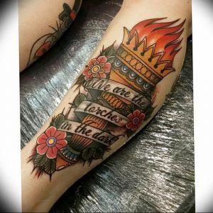 фото тату факел от 08.09.2017 №140 - tattoo torch - tattoo-photo.ru