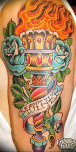 фото тату факел от 08.09.2017 №142 - tattoo torch - tattoo-photo.ru