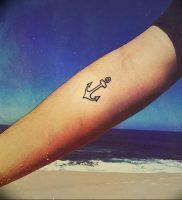 фото тату якорь от 02.10.2017 №002 — tattoo anchori — tattoo-photo.ru
