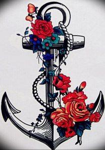 фото тату якорь от 02.10.2017 №026 - tattoo anchori - tattoo-photo.ru