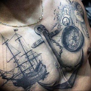 фото тату якорь от 02.10.2017 №036 - tattoo anchori - tattoo-photo.ru