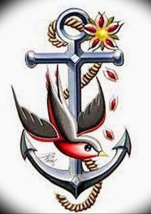 фото тату якорь от 02.10.2017 №037 - tattoo anchori - tattoo-photo.ru
