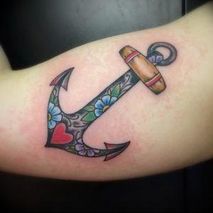 фото тату якорь от 02.10.2017 №049 - tattoo anchori - tattoo-photo.ru