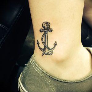 фото тату якорь от 02.10.2017 №055 - tattoo anchori - tattoo-photo.ru