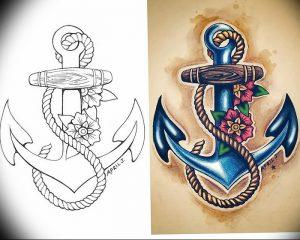 фото тату якорь от 02.10.2017 №060 - tattoo anchori - tattoo-photo.ru