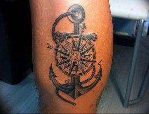 фото тату якорь от 02.10.2017 №077 - tattoo anchori - tattoo-photo.ru
